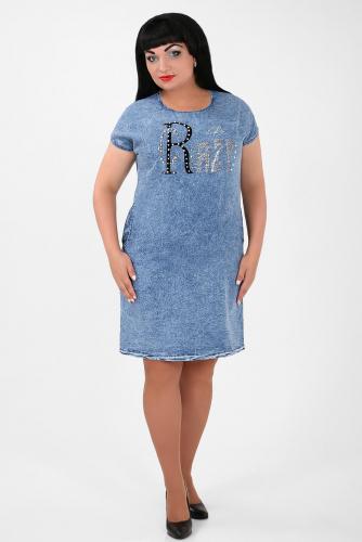 1-53 5731 Платье джинсовое