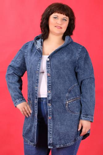 К8 909 Куртка джинсовая с капюшоном