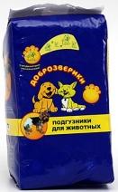 Пелигрин Доброзверики Подгузники д/животных L 16-25кг, 45-55см 10шт