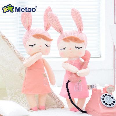 Кукла-сплюшка Metoo Angela в розовом платье 34 см