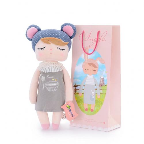Кукла-сплюшка Metoo Angela в платье с вышивкой Пудинг 34 см