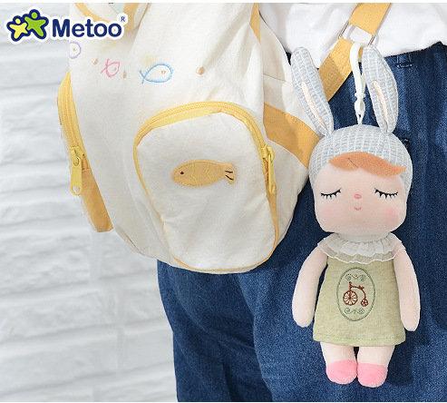 Кукла-сплюшка Metoo Angela mini в зеленом платье с вышивкой 18 см