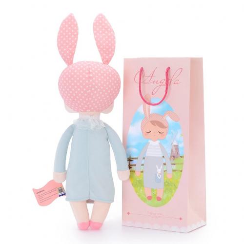 Кукла-сплюшка Metoo Angela в сером платье 34 см