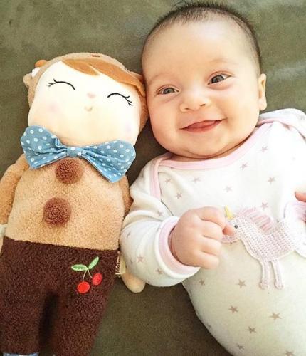 Кукла-сплюшка Metoo Angela в костюме оленёнка 34 см