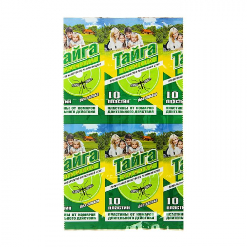 Пластины от комаров Тайга Family, инсектицидные, 10 шт