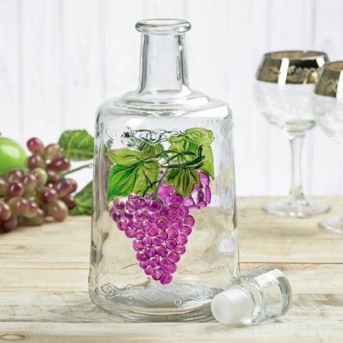 Бутылка стеклянная 1,5 л «Традиция» с рисунком
