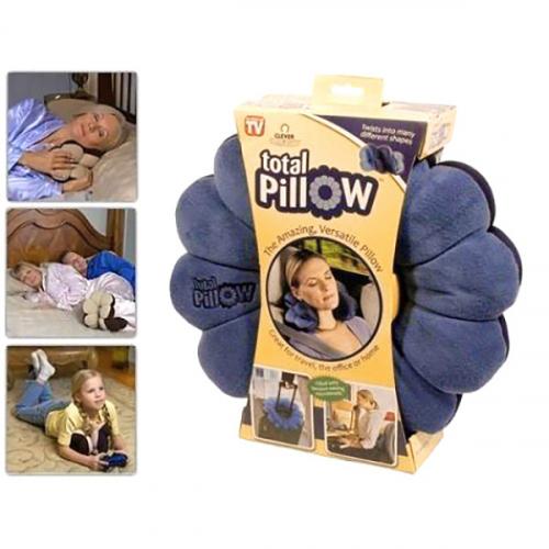 Подушка-трансформер для путешествий Total Pillow (Тотал Пиллоу) Оранжевая