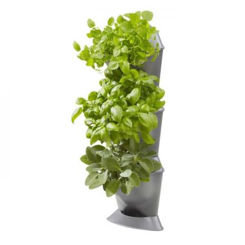 Фитомодуль для вертикального садоводства, угловой: 3 ёмкости, 3 крышки, 1 поддон, 6 клипс