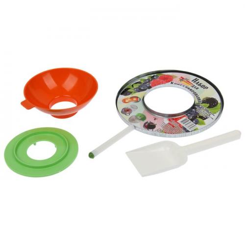 Набор для консервирования: воронка, магнит, лопатка, насадка на стерилизатор
