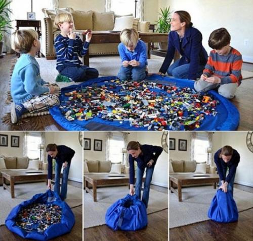 Сумка-коврик для игрушек Toy Bag диаметр 150 см цв. сине-красный