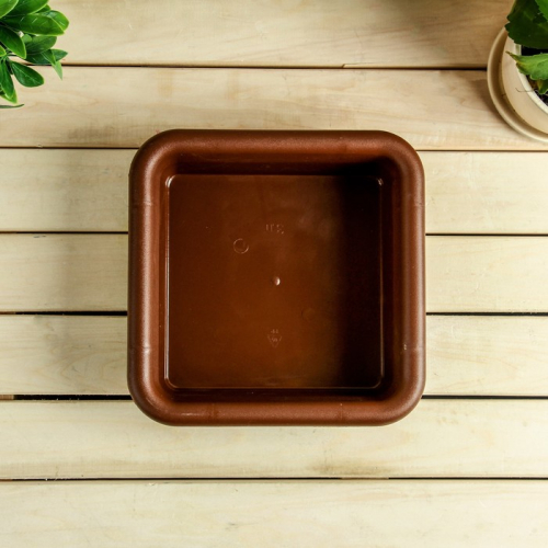 Ящик для рассады, 23,5 × 23,5 × 7 см, 3 л, терракотовый