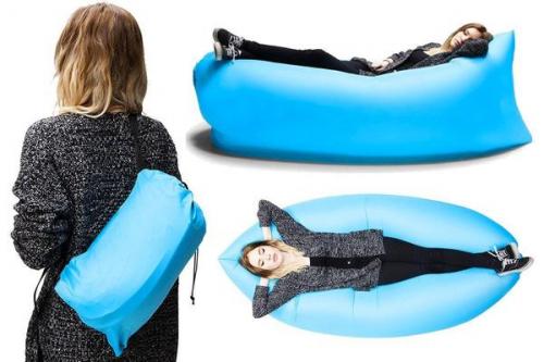 Надувной лежак Ламзак с карманами LAMZAC Россия фиолетовый
