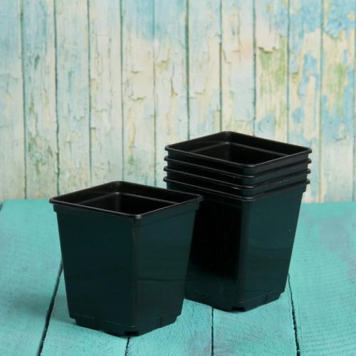 Горшок для рассады, 250 мл, 7 × 7 × 8 см, чёрный
