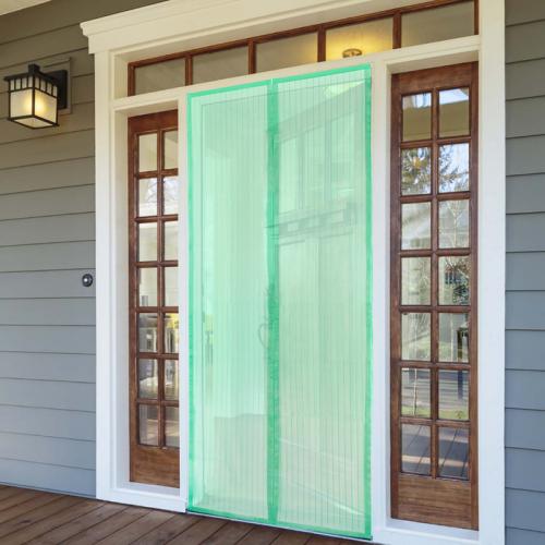 Сетка антимоскитная на магнитной ленте 80x210 см, цвет зеленый