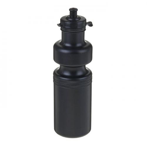 Бутылка 700 мл, велосипедная, чёрная, 7х23 см
