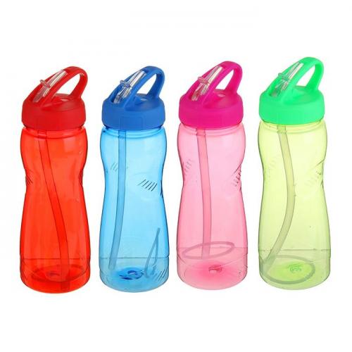 Бутылка для воды 1000 мл, велосипедная, фигурная, микс, 9х26,5см