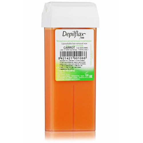 Воск в картридже Depilflax100 для депиляции, морковный