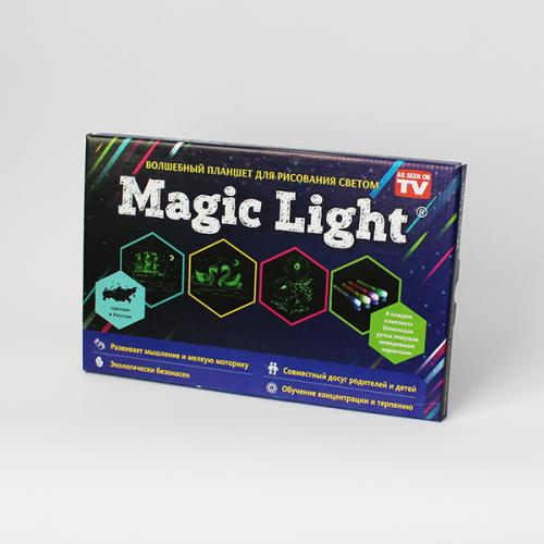 Рисуй светом на волшебном планшете Magic Light Full А4 (21 х 30 см) Пластик толщиной 5 мм. + Подарок чехол. Оригинал, Россия!