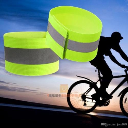 Сигнальный светоотражающий эластичный браслет напульстник Пешеход Лимон