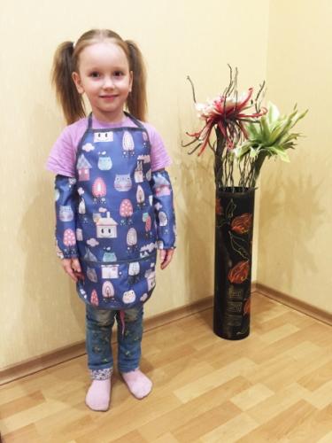 Фартук с нарукавниками для ребенка 2-8 лет совы 2