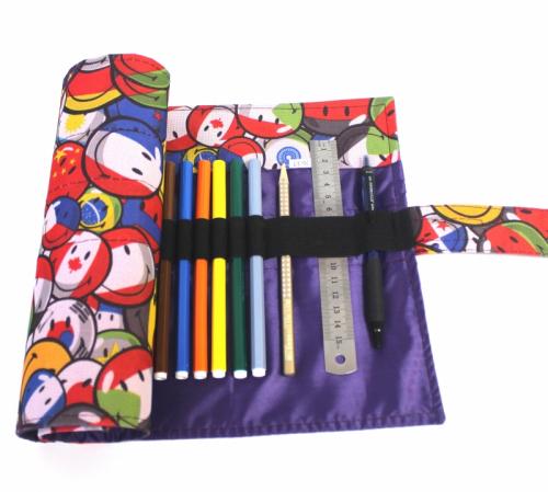 Пенал корпусный для письменных принадлежностей Pencil Case Tuba Смайлики