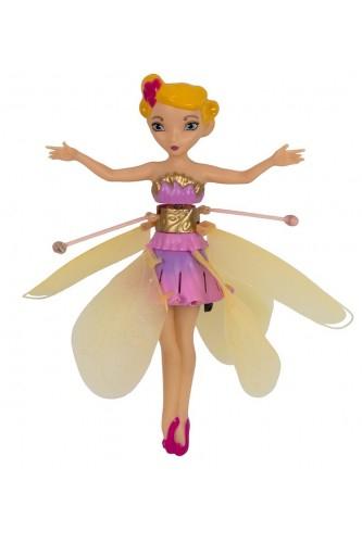 Оригинальная летающая фея Flying Fairy с подсветкой и музыкой, цвет желтый