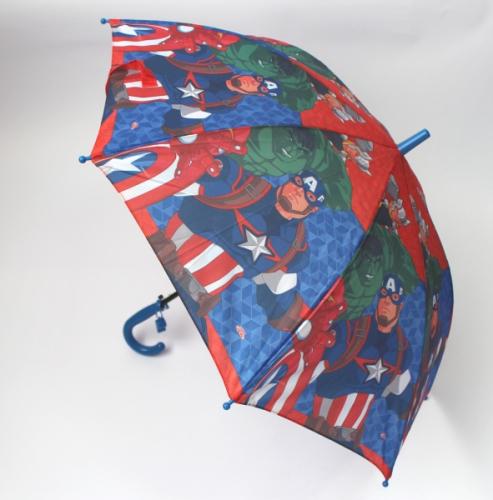 Зонт детский полуавтомат Мстители со свистком №74