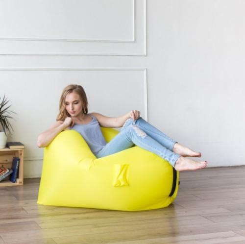 Надувное кресло-лежак Ламзак с карманами LAMZAC Россия желтый