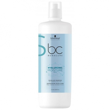 Schwarzkopf BONACURE New Hyaluronic Moisture Kick Shampoo Интенсивное Увлажнение Шампунь, 1000 мл
