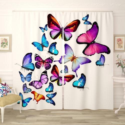 Фотошторы Яркие бабочки 4