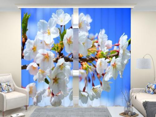 Фотошторы люкс Цветущая сакура