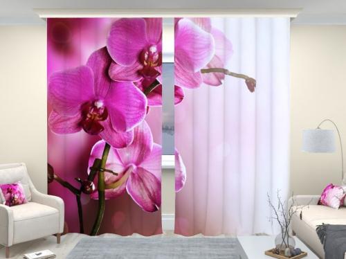 Фотошторы люкс Розовая орхидея 2