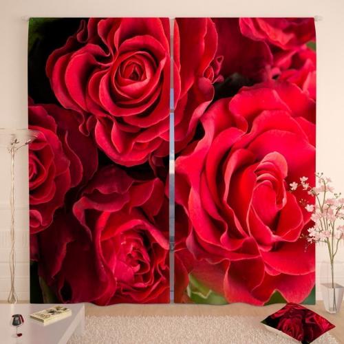 Фотошторы Волнистые розы