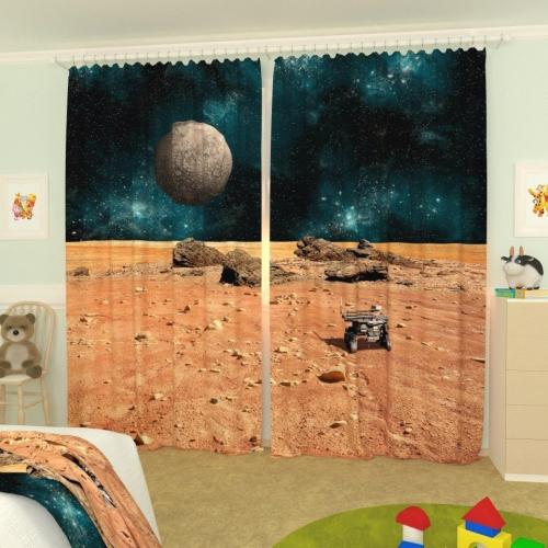 Детские фотошторы Поверхность Марса