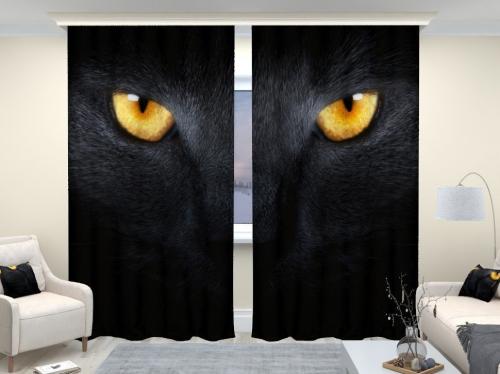 Фотошторы люкс Черный кот