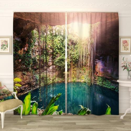 Фотошторы Пещера с озером