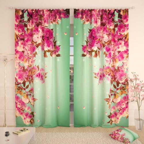 Фотошторы Весенние розовые лепестки