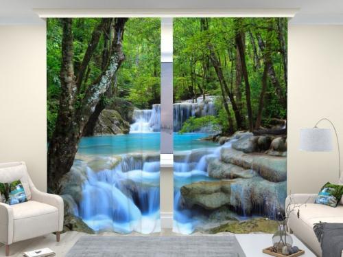 Фотошторы люкс Лесной водопад