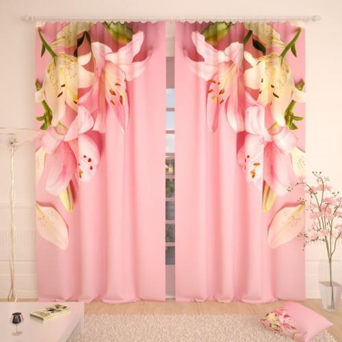 Фотошторы Великолепные розовые лилии