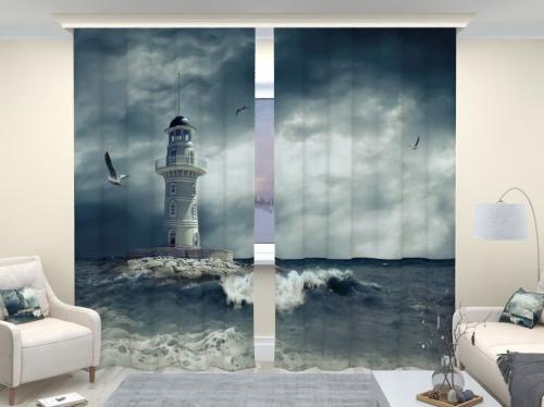 Фотошторы люкс Одинокий маяк