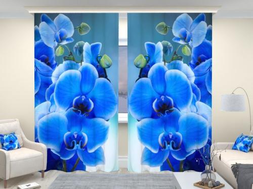 Фотошторы люкс Голубая орхидея
