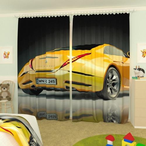 Детские фотошторы Желтая машина