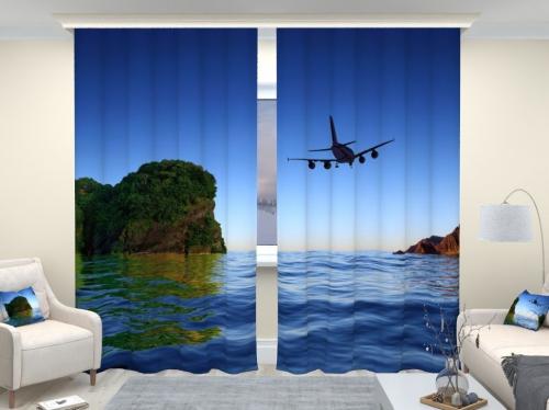 Фотошторы люкс Самолет 1