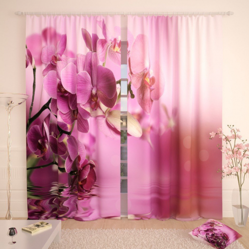 Фотошторы Розовые лепестки орхидеи