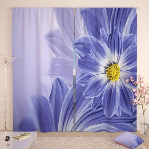 Фотошторы Красивое голубое цветение