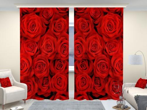 Фотошторы люкс Красные розы
