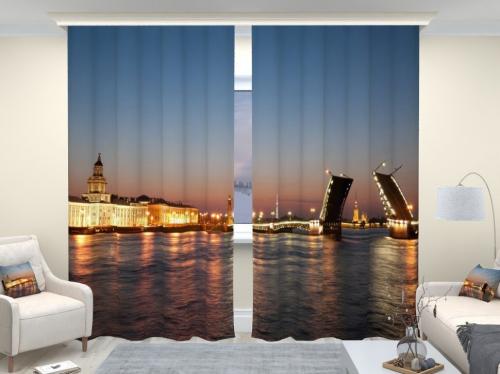 Фотошторы люкс Дворцовый мост