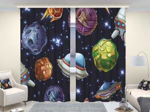 Фотошторы люкс Астероиды