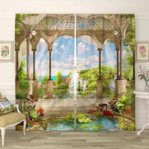 Фотошторы Райские сады