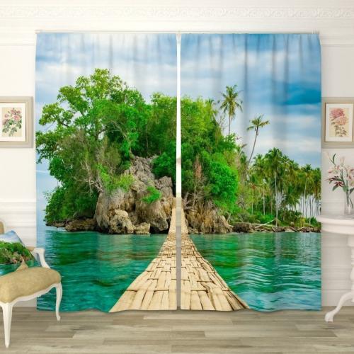 Фотошторы Мост к одинокому острову